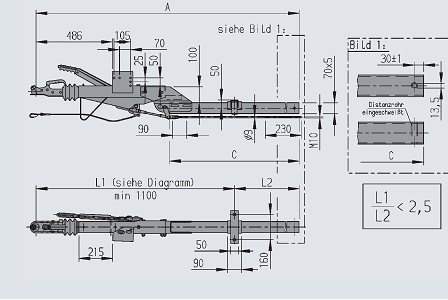 Vierkant met geknikt disselprofiel 700 - 1350 kg