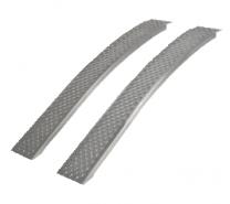 Oprijplaten aluminium gebogen