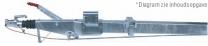 AL-KO oplooprem, vierkant met recht disselprofiel 1500 - 2600 kg
